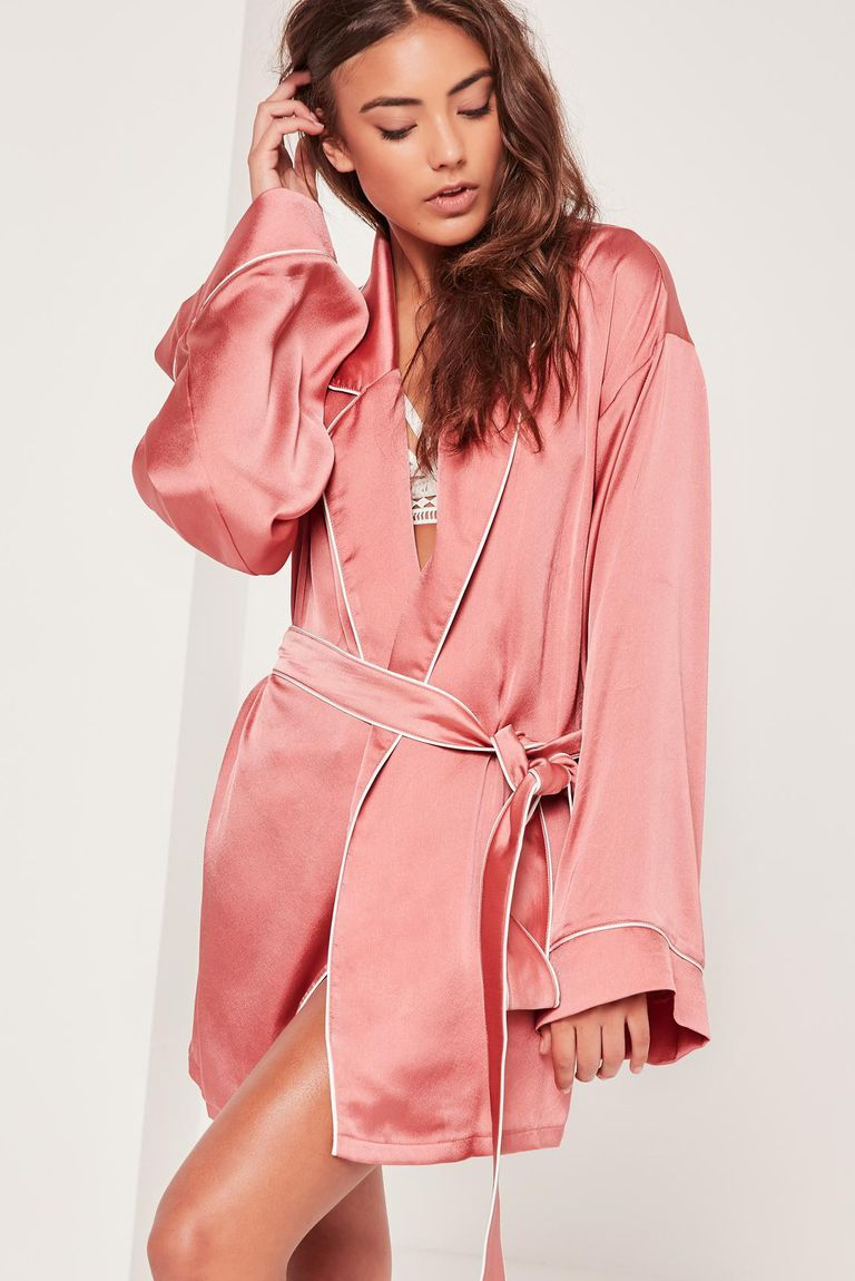 85b205101f This silky robe not only looks like an oversize pajama top