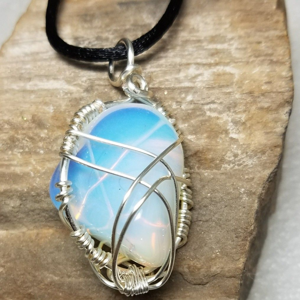 opal opalite ayliss healing fashion reiki madlovemeditation dowsing wicca chakra products hot selling stone chain pendant pendulum gem