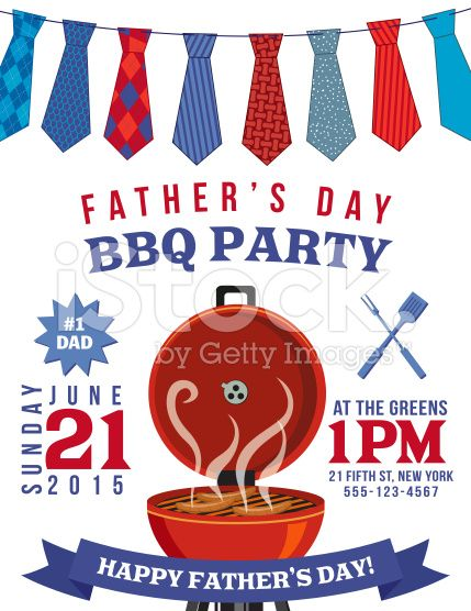 Father'S Day Bbq Invitation Template Royalty-Free Stock Vector Art