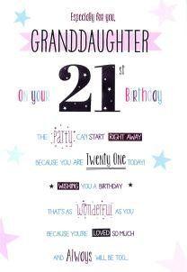 Happy 21st birthday granddaughter card icg httpamazon happy 21st birthday granddaughter card icg httpamazon m4hsunfo