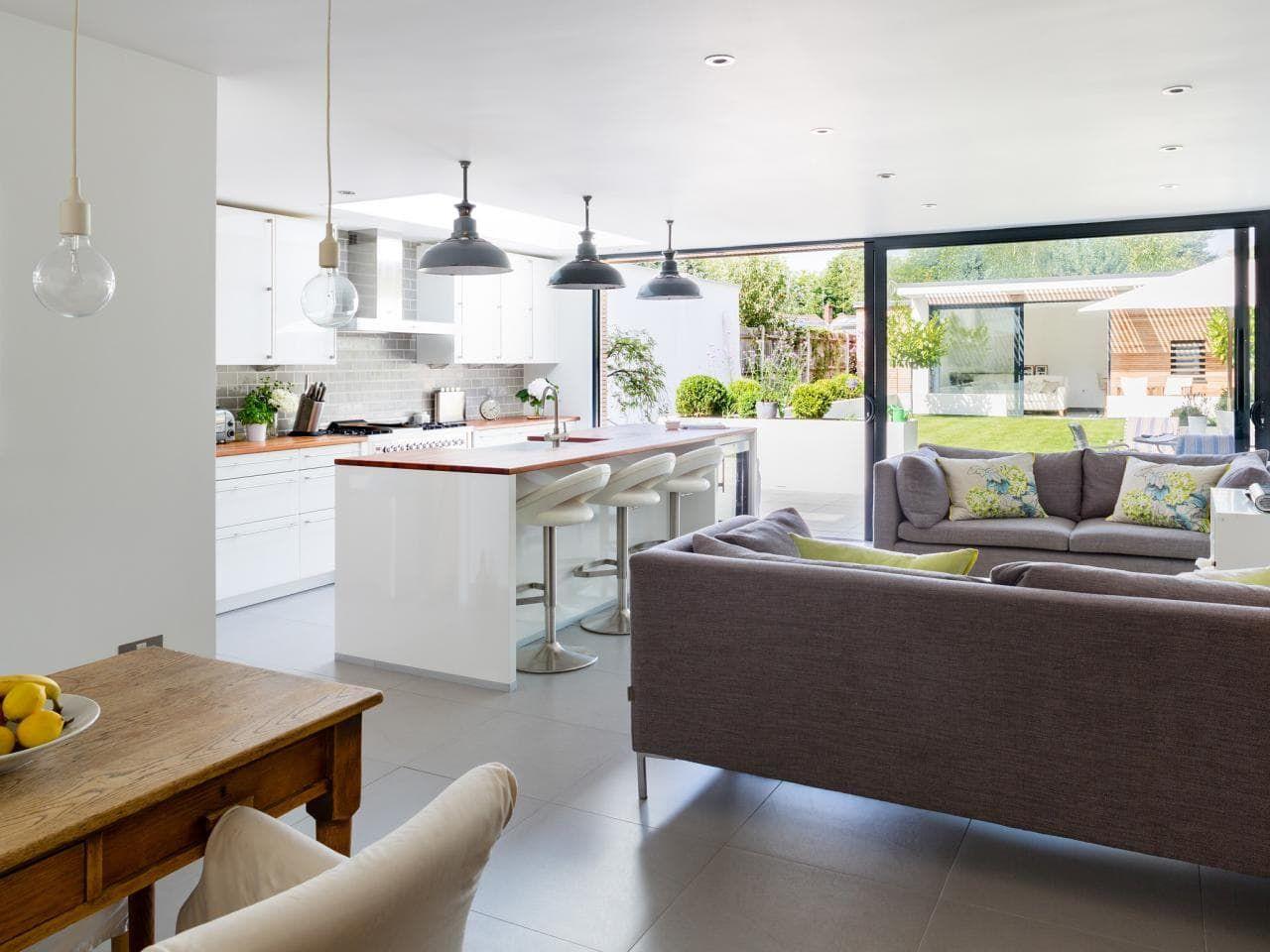مطبخ صغير مفتوح على الصاله In 2020 Open Concept Kitchen Living Room Open Concept Kitchen Living Room Layout Living Room And Kitchen Design