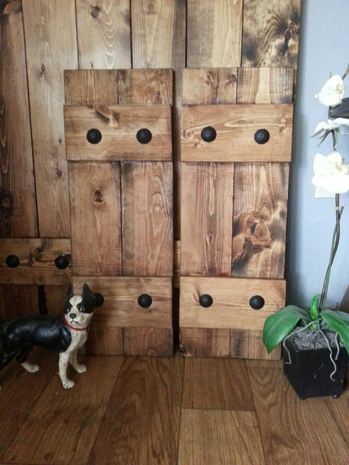 Good RUSTIC Wood Shutters With Clavos Decorative By WoodenNail On Etsy