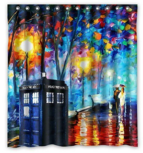 Paintings Tardis Doctor Who 66 By 72 Inch Shower Curtain Amazing Decorate  Your Bathroom: Amazon