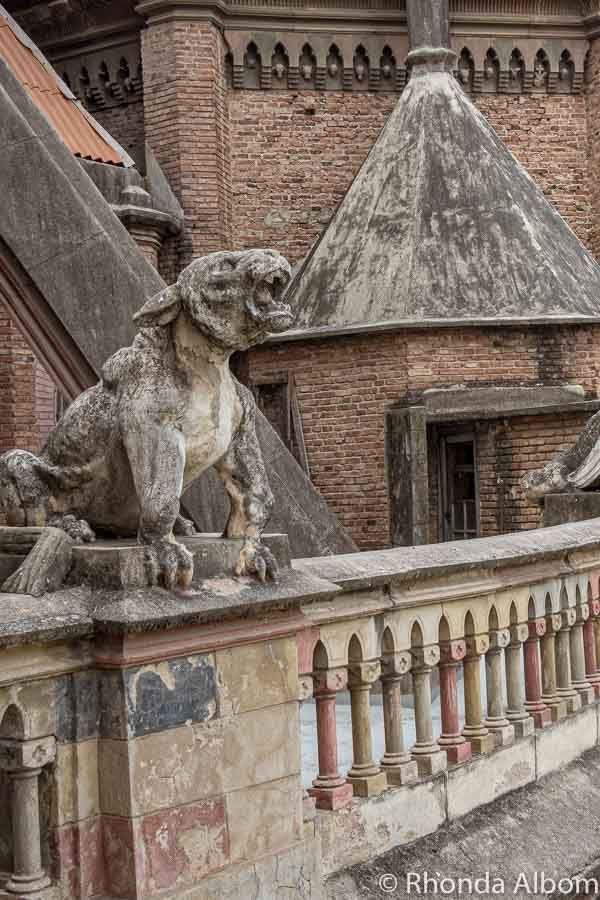 Gargoyle protecting the Iglesia Capuchinos, the Church of the Capuchins in Cordoba Argentina. #travel #southamerica #argentina #cordoba #church #capuchins #capuchinos #gargoyle #gargoyles #statues