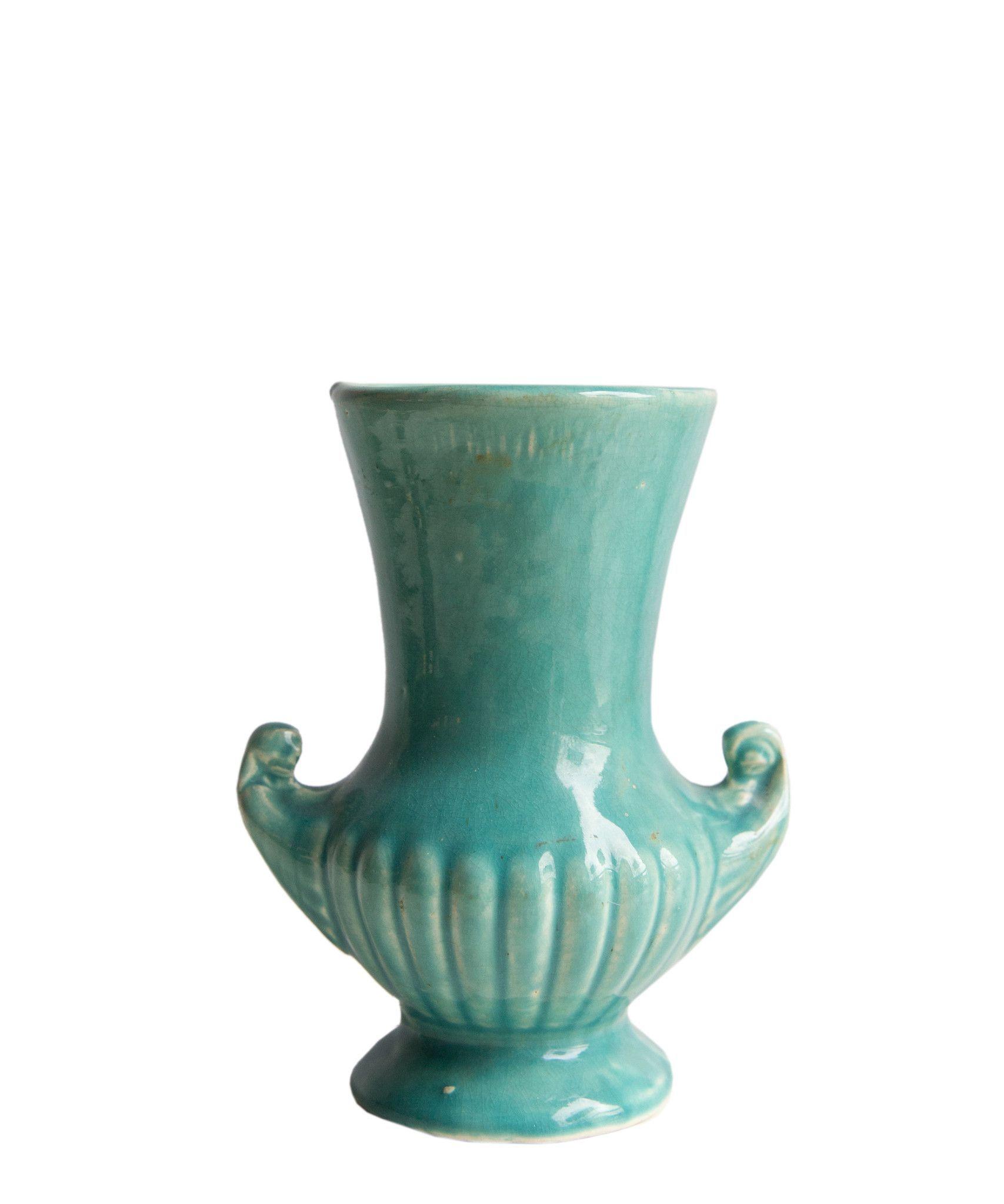 1940s vintage turquoise mccoy vase passion fo r pottery 1940s vintage turquoise mccoy vase reviewsmspy