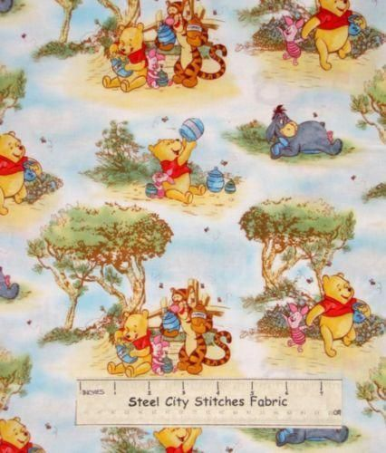 Fat Quarter Out and About Hikers Cotton Quilting Fabric Nutex