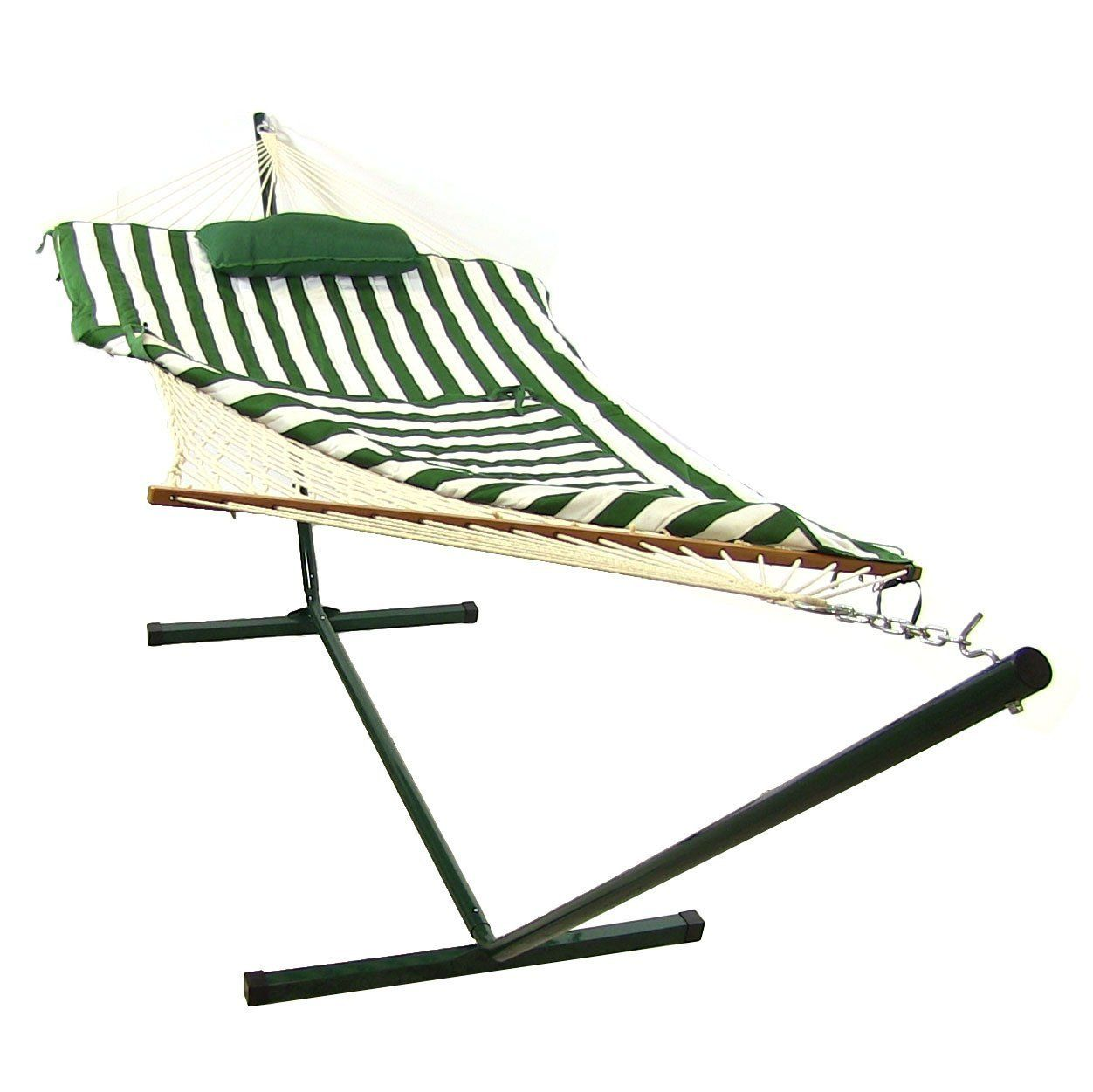 Amazon sunnydaze desert stripe rope hammock combo with stand