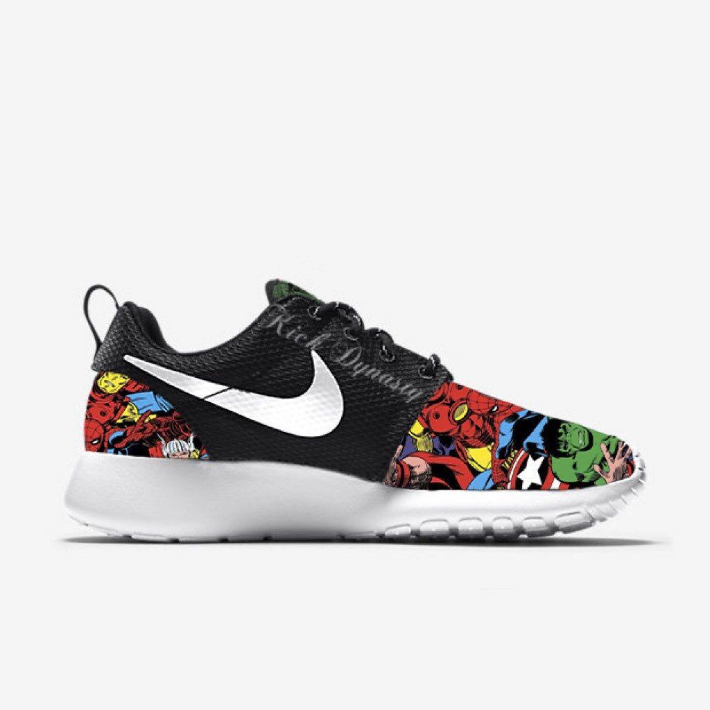 Kickdynasty marvel shoes black nike shoes nike shoes