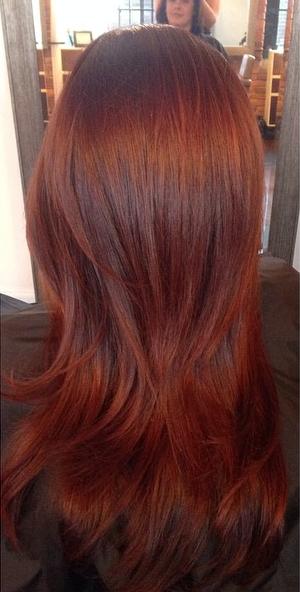 outono de 2014 cabelo cor tendência