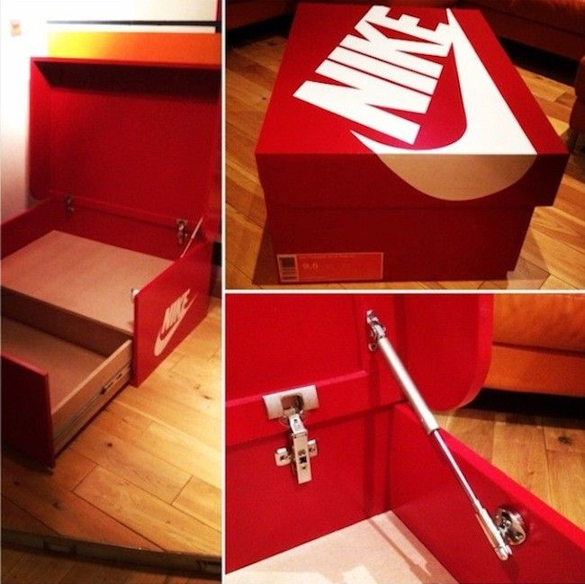 42e03719638 Nike & Air Jordan Slide Out Wooden Sneaker Box Storage by Designer Woodist  Punk