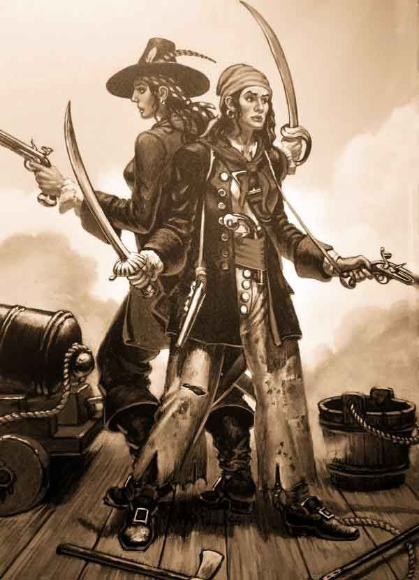 Mary Read Et Anne Bonny : bonny, Bonney, Famous, Ferocious, Women, Pirates, History,, Pirates,, Pirate, Woman,