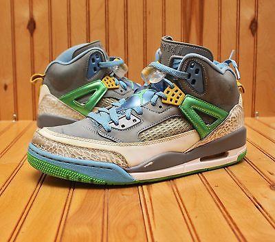 aad620fbc9e7bb 2012 Nike Air Jordan Spizike Size 9.5 - Easter Green Blue Grey - 315371 056