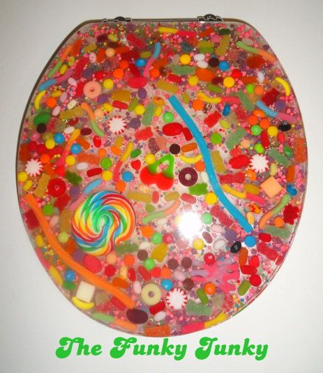 Resin Toilet Seat W Candy They Sell The Mold For This On