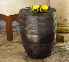 Frog Rain Drum Accent Table