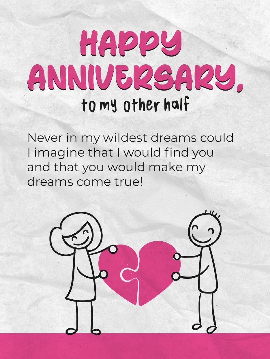 Love Puzzle Happy Anniversary Cards Birthday Greeting Cards By Davia Happy Anniversary Cards Anniversary Cards Birthday Greeting Cards