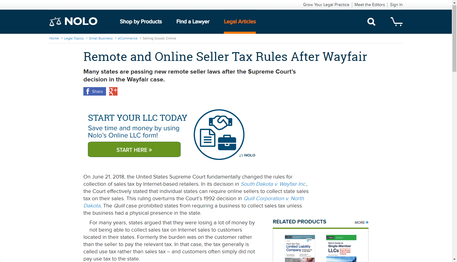 Internet Sales Tax A 50 State Guide To State Laws Nolo Com Tax Rules Court Decisions Sales Tax
