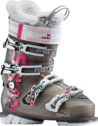 90ff52c54aa9 Rossignol Women s Alltrack 70 Ski Boots Light Black Pink Mondo 25.5 ...