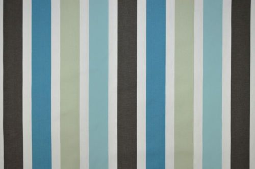 swatch box mode aqua blue modern stripe cotton curtain upholstery