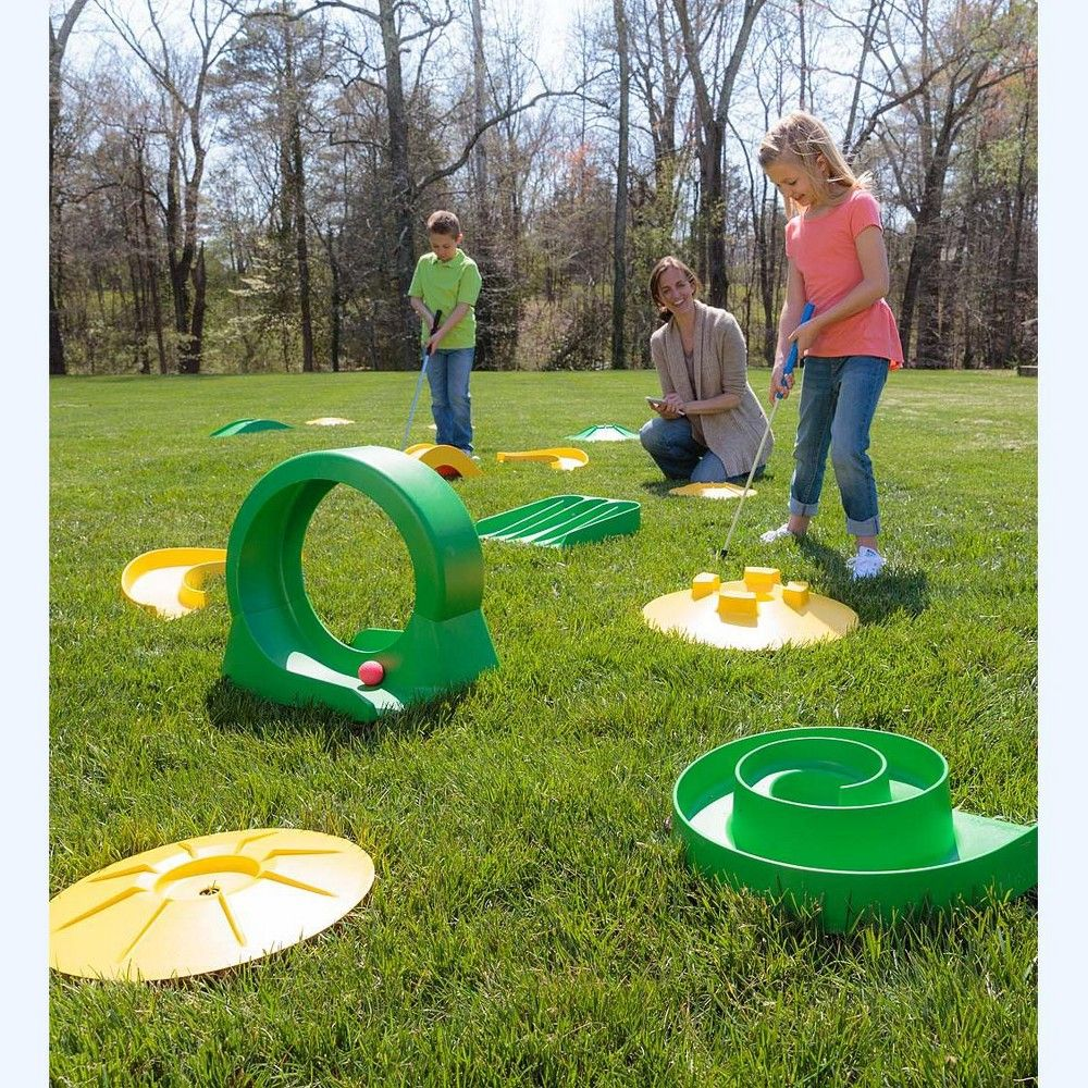 Design Your Own Mini Golf Deluxe Course Kit For Kids Defacto Gmbh Mini Golf Putt Putt Golf Golf Fashion Backyard mini golf jeux