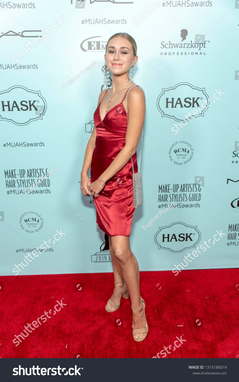 Emily Skinner attends 2019 Makeup Artists and Hair