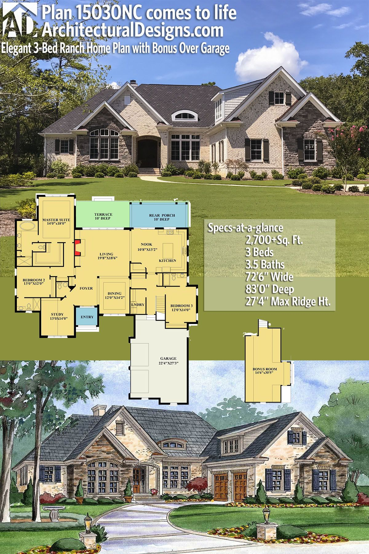 Architectural Designs House Plan 15030NC comes to