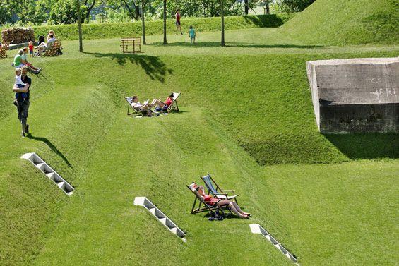 Fort Werk aan 't Spoel   Culemborg Netherlands   Rietveld Landscape & Atelier de Lyon with Anouk Vogel