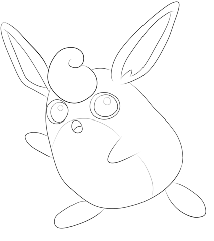 Wigglytuff Coloring Page Cute Coloring Pages Coloring Pages Free Printable Coloring Pages