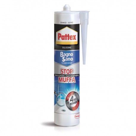 Pattex Bagno Sano Stop Muffa Silicone colore Bianco cartuccia ml 300 ...