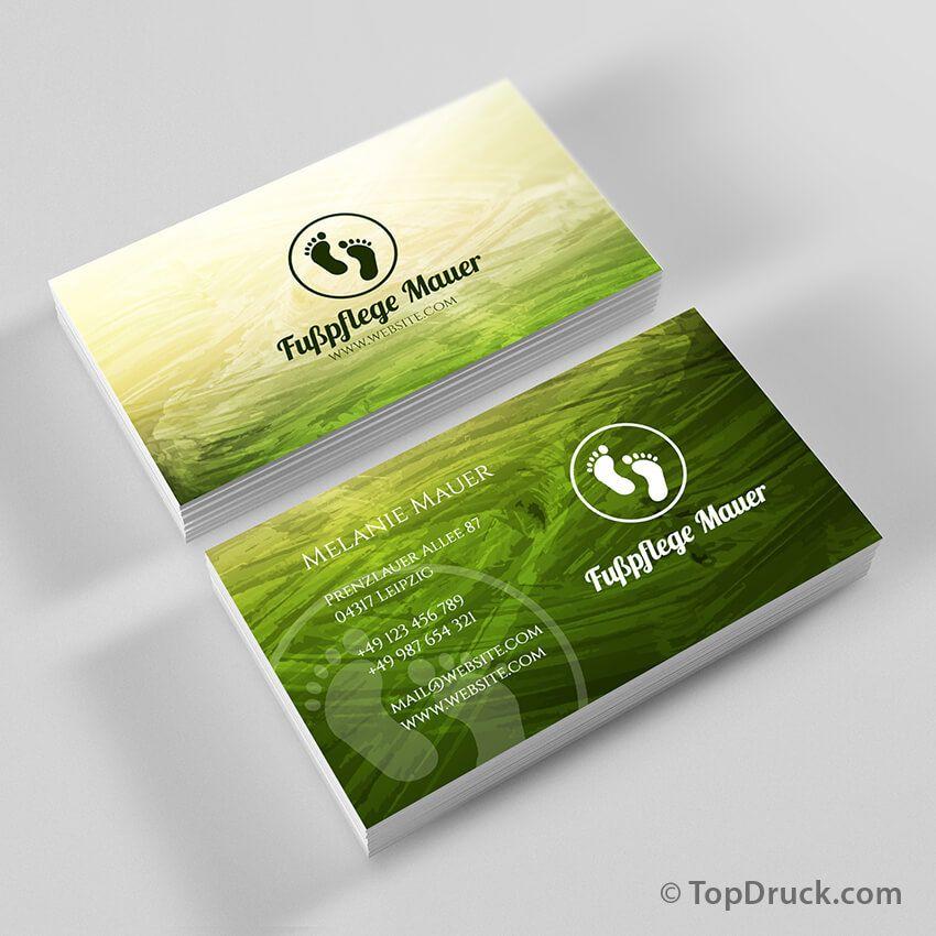 Fußpflege Visitenkarten Design Visitenkarten Design
