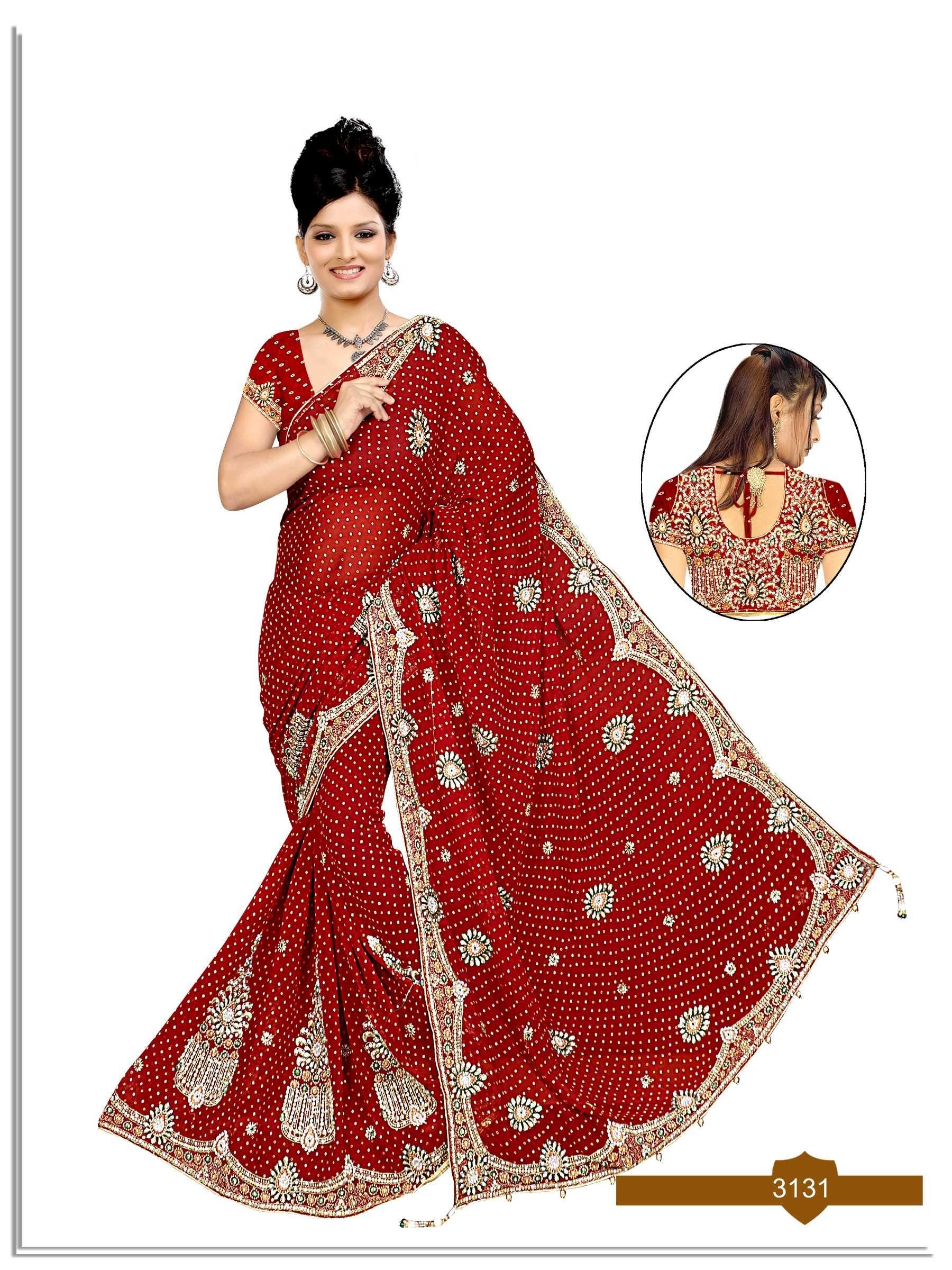 b24361044a This #heavy #Designer #work #bandhani, #Bandhej, #Chunari, #wedding,  #gharchola #saree are in #Georgette, #Viscose and #Jaquard fabrics. Work on this  saree ...