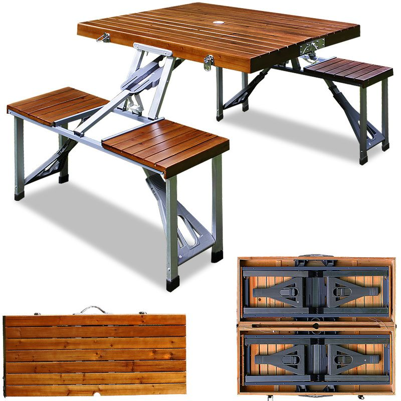 Outdoor Picnic Table And Bench Set Camping Travel Bbq Folding Portable Seat Set 101157 Table De Pique Nique Ensemble Table Et Chaise Table Et Chaises