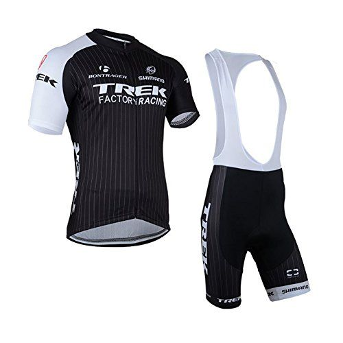 Luckyspring Trek Factory Racing Mens MTB Cycling Short Sleeve Jersey and  Bike Bib Shorts Bicycle Set Suit    For more information f2870bb63