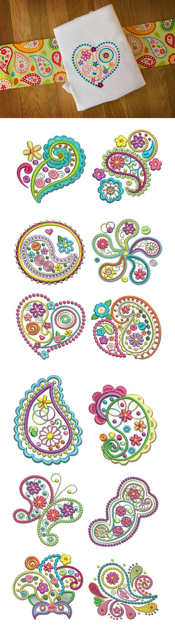 Available in a range of different colour designs instant downloadable - Crazy For Paisley Design Set Is Available For Instant Download At Designsbyjuju Com