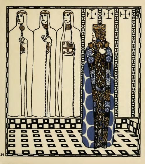 Die Nibelungen 1909  by Frank Keim  illustrated by Carl Otto Czeschka
