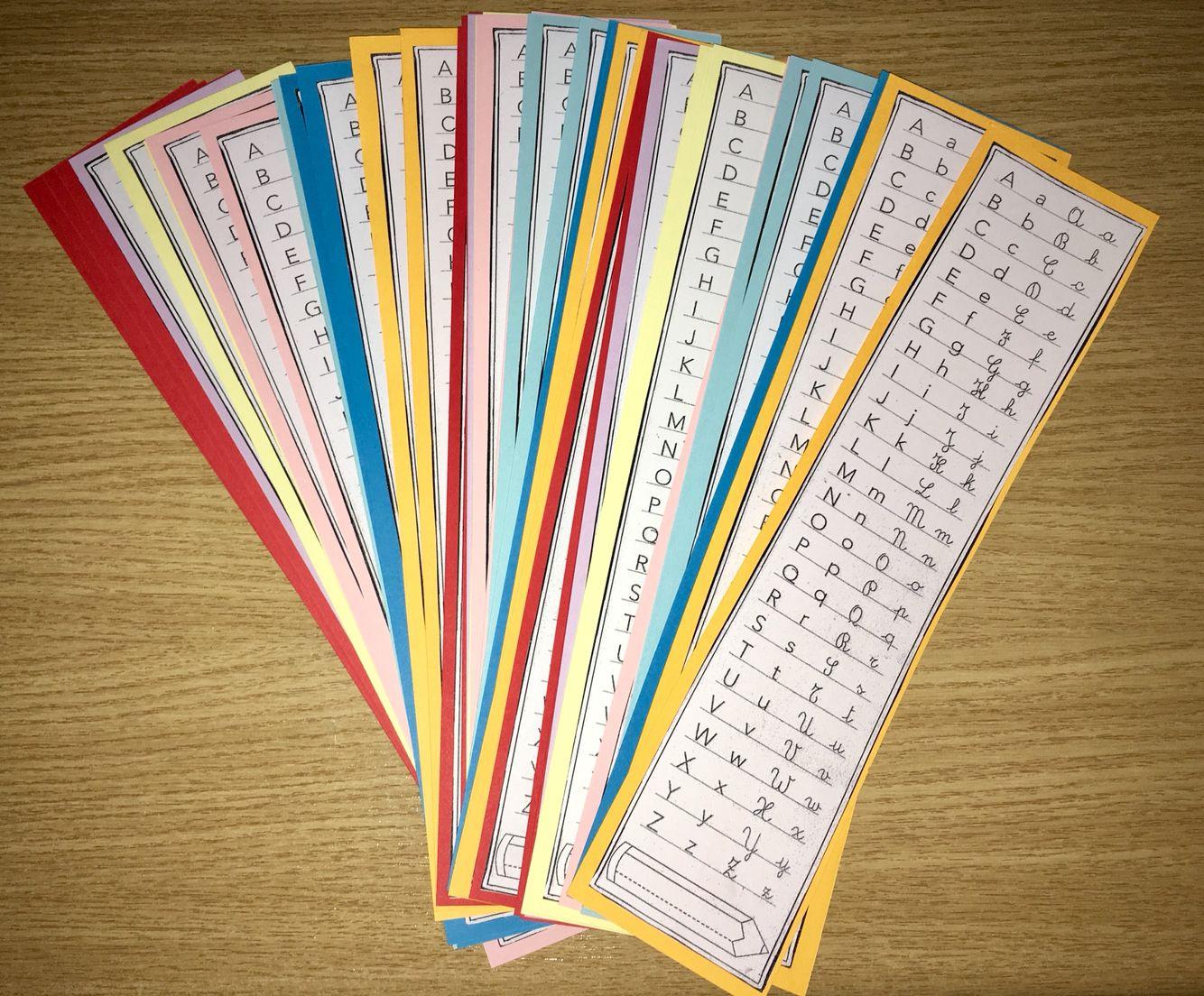Segnalibro Bambini ~ Segnalibro con tutti i caratteri leggiamo scriviamo