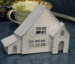 Résultat d'images pour Free Pattern Cardboard Christmas Houses