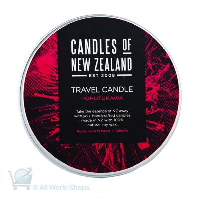 NZ Soy Wax Travel Candle - Pohutukawa Scented | Shop New Zealand NZ$ 23.90