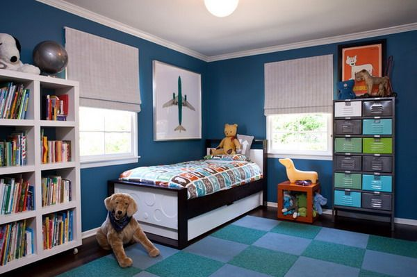 Modern Kids Bedroom Within Blue Color Scheme Home Interior