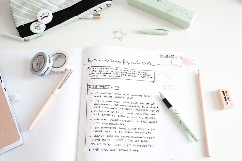15+ Tipps und Ideen für eine kreative Heftgestaltung