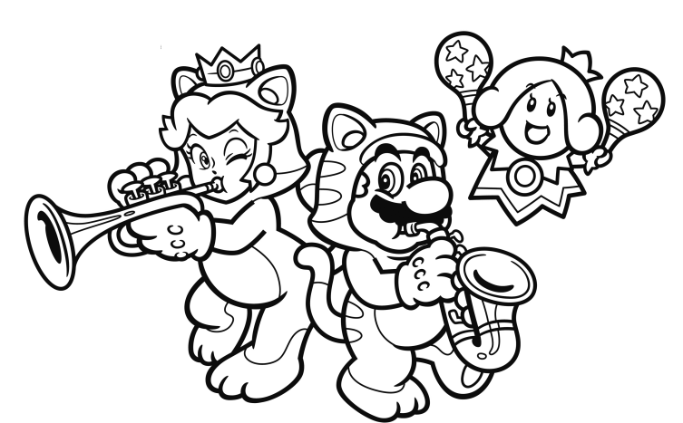mario 3d coloring pages 2 by with images