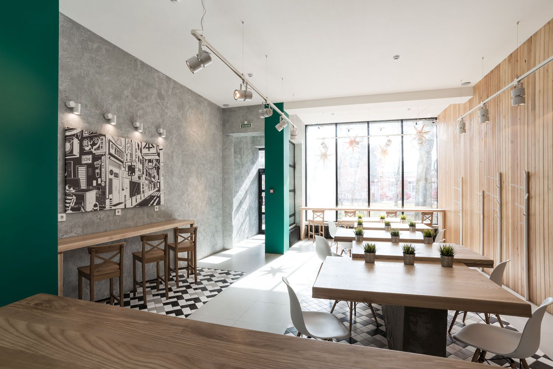 kyoto wok cafe interior design branding - Marble Cafe Decoration