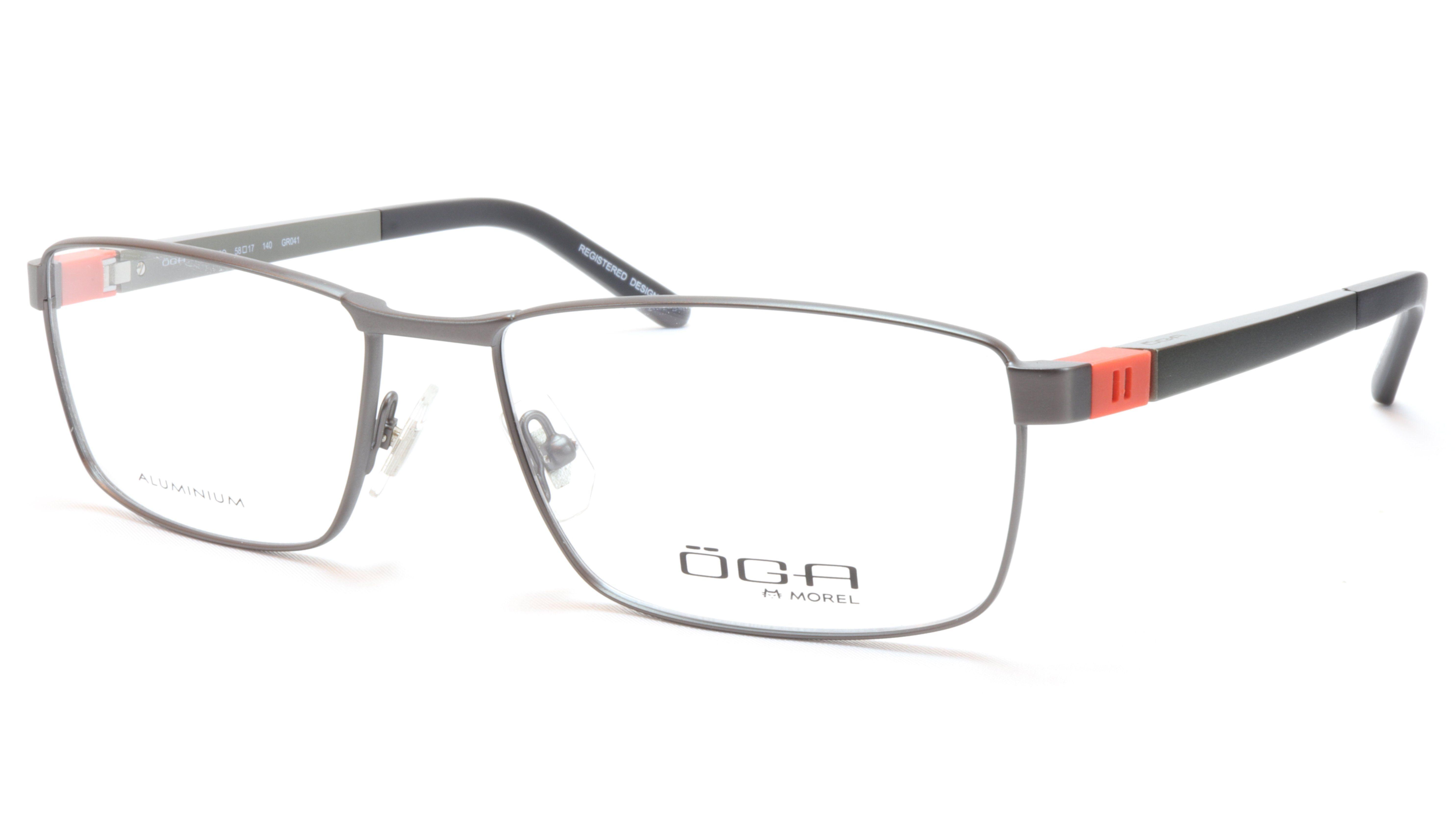 7848aec05169 OGA Morel Eyeglasses Frame 81730 GR041 Metal Acetate Black Silver Orange  France