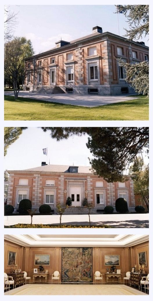 La zarzuela palace the residence of the king juan carlos queen sofia la zarzuela grounds is situated just outside madrid the palace is situated there