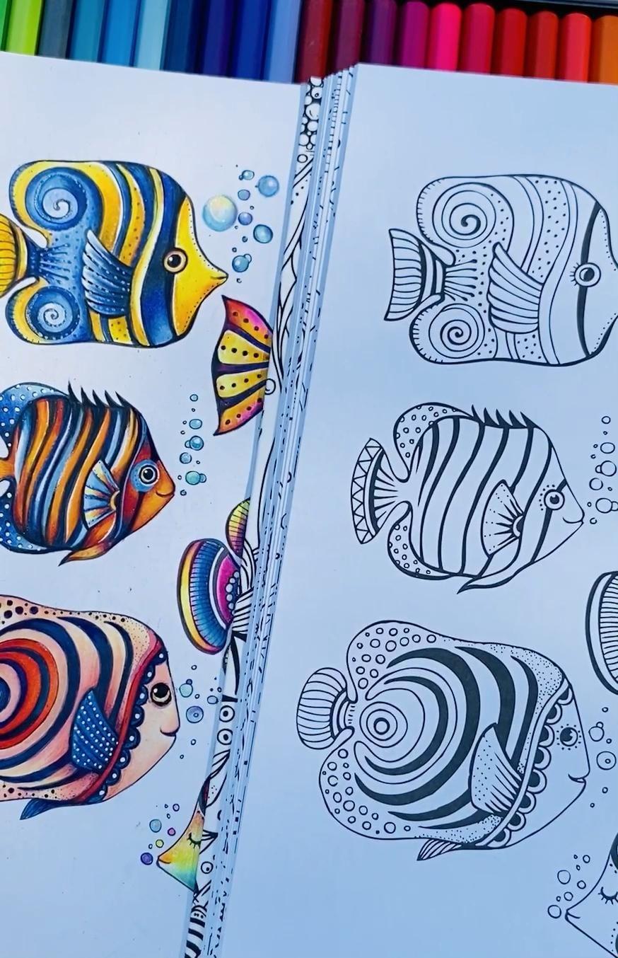 #adultcoloringbooks #coloring #lovetocreate #illustration #funny #colorful #colouring #coloriage #artwork #cute #ritaberman #ritabermancoloringbooks