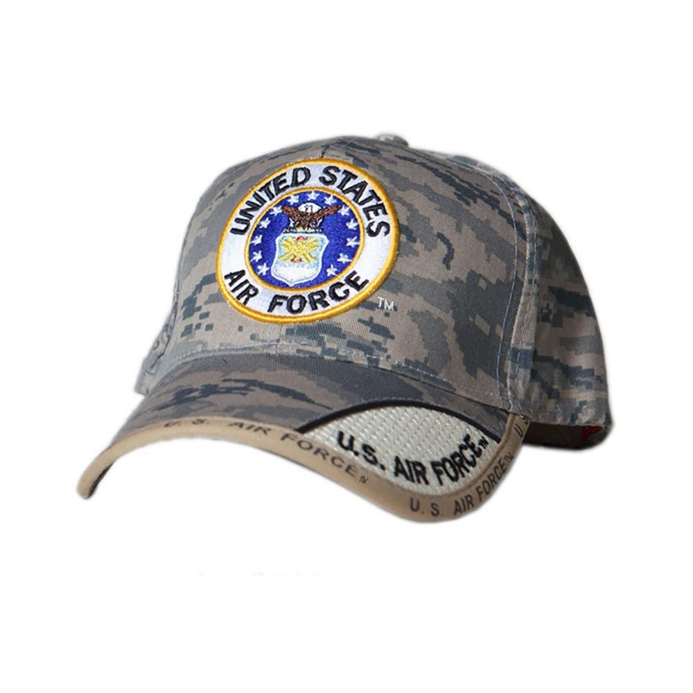 bda98f29077ed US Honor Embroidered Digital Pixel Camo Air Force Round Logo Baseball Caps  Hats