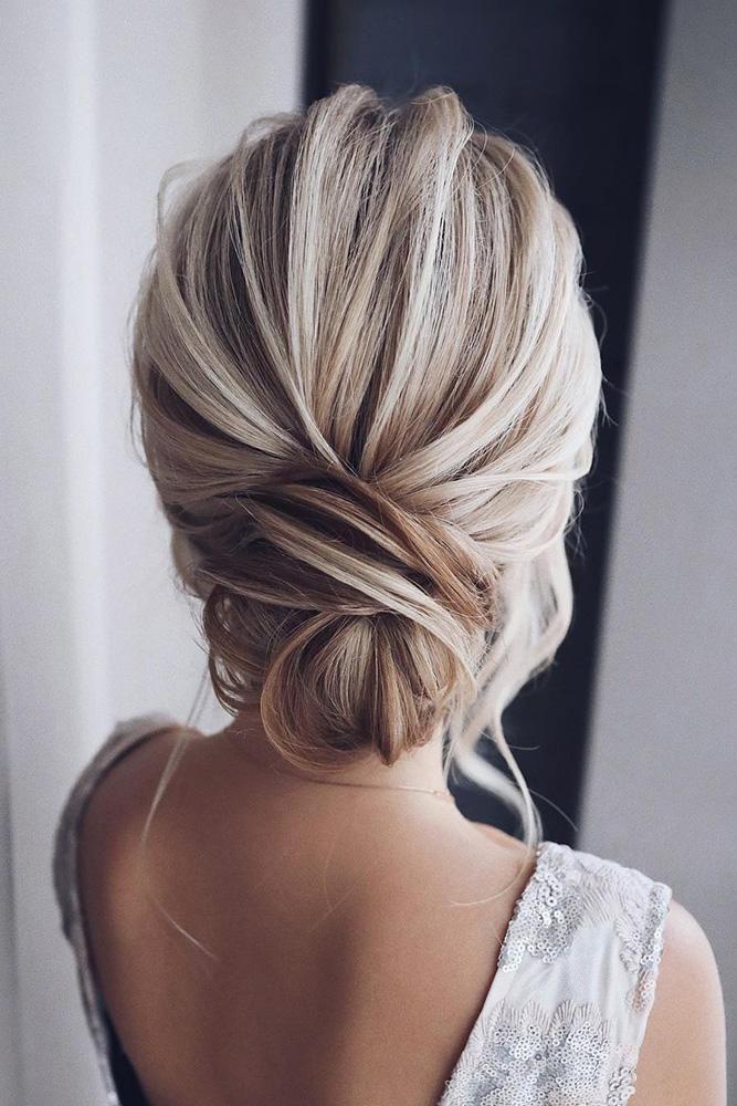 39 Pinterest Wedding Hairstyles Ideas pinterest wedding hairstyles elegant textured chignon on blonde hair…