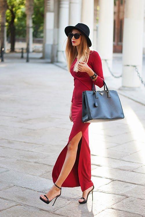 Made With Fashion | a fashion blog by Andrea Gomez: BURGUNDY MAXI-DRESShttp://www.madewithfashion.com/