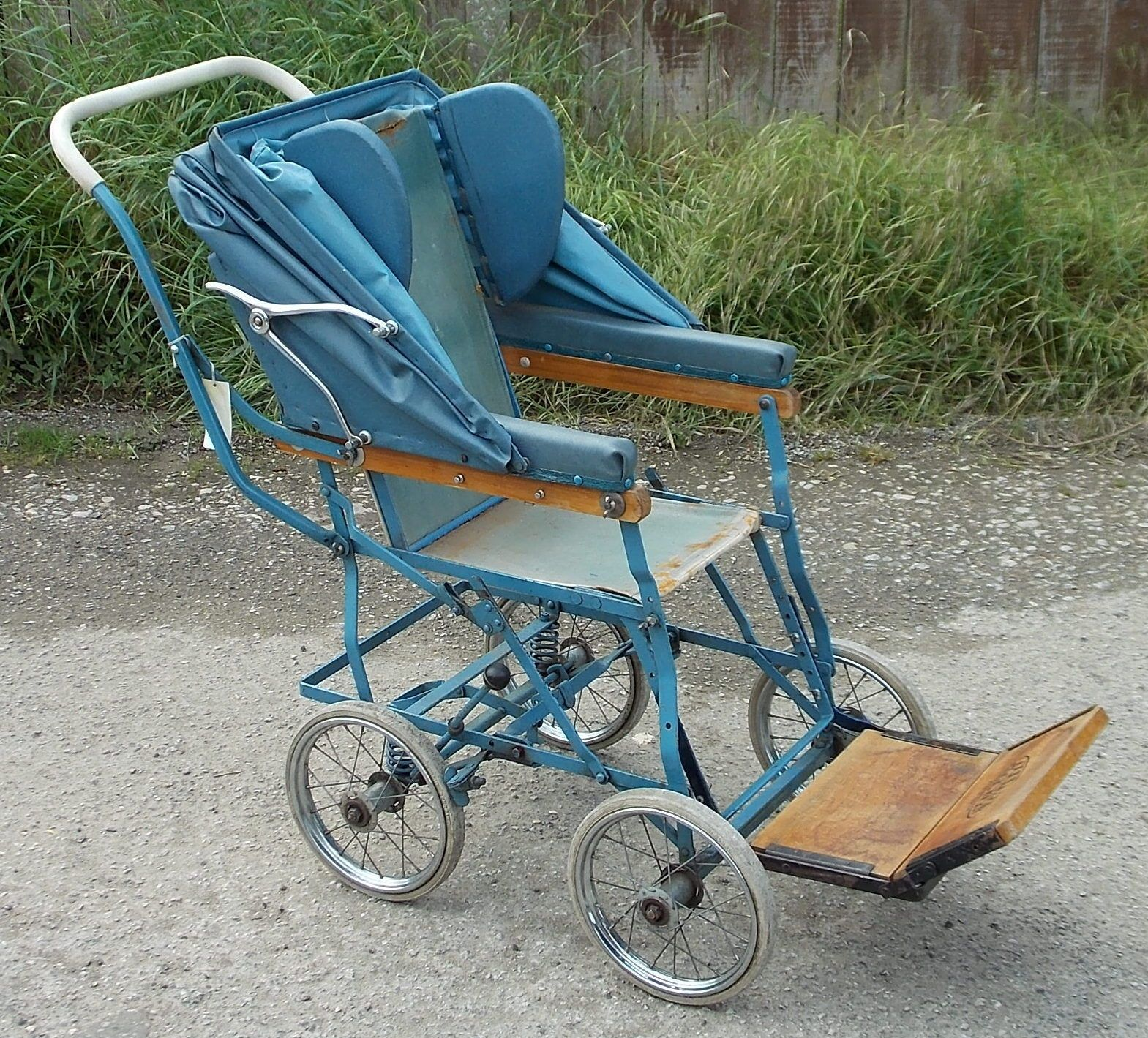 Original vintage Allwin child's folding wheelchair with