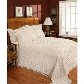 Diamond Tufted Chenille Bedspread By Stylemaster