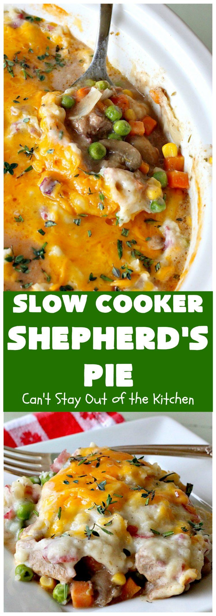 Slow Cooker Shepherd S Pie Recipe Shepherds Pie Slow Cooker Recipes